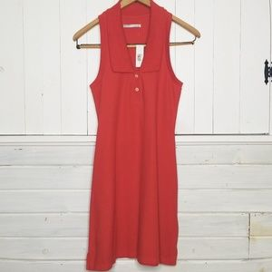 NWT Old Navy Polo Dress Sleeveless Orange
